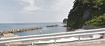 日の出浜遊泳場 大島